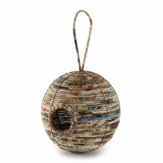 Recycled Paper Bird House Ball