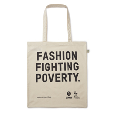 Fashion Fighting Poverty Shopping Tote Bag