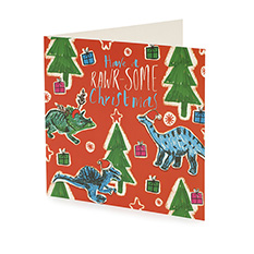 Rawr-some Christmas card (10 pack)
