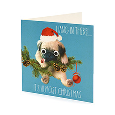 Pug Christmas card (10 pack)