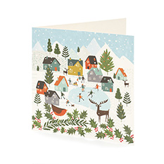 Community Scene Christmas card (10 pack)