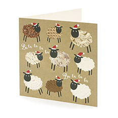 Baa-la-la Sheep Christmas card (10 pack)