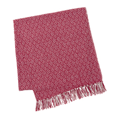 Red Diamond Cotton Throw