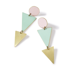 Pastel Geometric Earrings