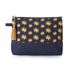 Crab Print Wash Bag