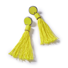 Recycled Paper Tassel Earrings