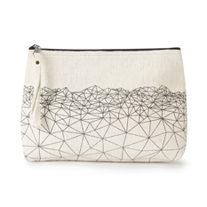 Large Cream Geometric Wash Bag