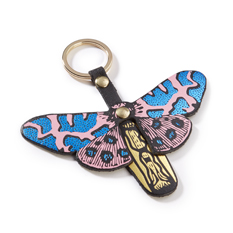 Pink Butterfly Keyring