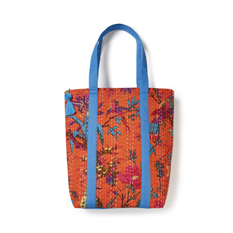 Birds Kantha Stitch Tote Bag