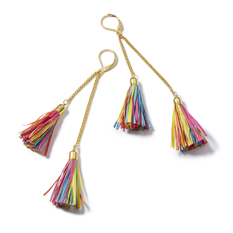 Rafia Tassel Earrings