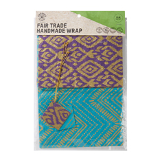 Turquoise & Purple Fair Trade Handmade Wrap