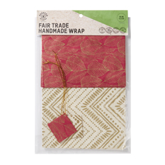 Red & Cream Fair Trade Handmade Wrap