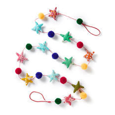 Recycled Sari Star Garland