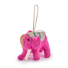 Handmade Felt Elephant Decoration