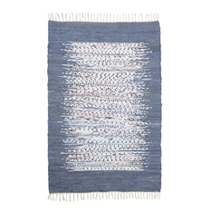 Blue Edge Dhurrie Rug