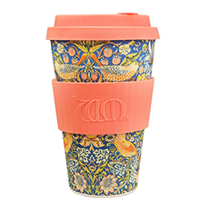 Reusable Bamboo Travel Cup - Strawberry Thief by William Morris Design