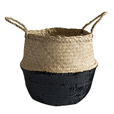 Black Sequin Medium Basket