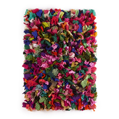 Multicoloured Fluffy Recycled Rug