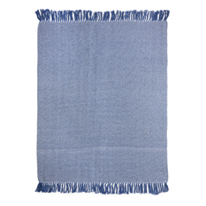 Indigo Recycled Cotton Throw