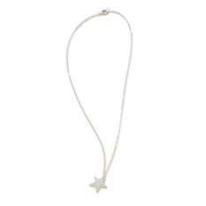 Silver Plated Sentiment Star Necklace