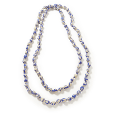 Blue Recycled Sari Necklace
