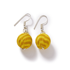 Gold Recycled Sari Earrings