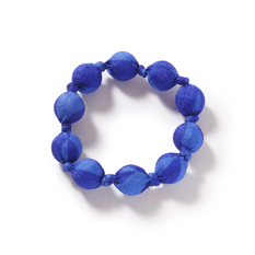 Blue Recycled Sari Bracelet