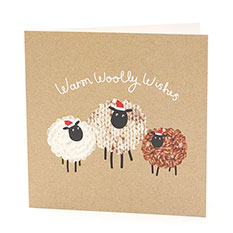 Warm Woolly Wishes Christmas card (10 pack)