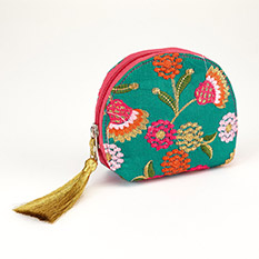 Embroidered Silk Purse