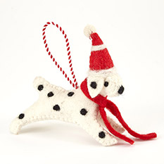 Handmade Dog Christmas Decoration