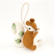 Handmade Squirrel Christmas Decoration