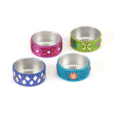 Sparkly Tea Light Holders Set of 4