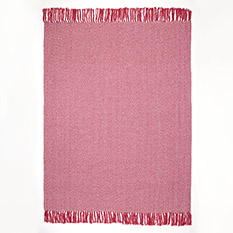 Pink Recycled Cotton Throw