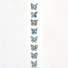 Hand Block Printed Paper Butterfly Garland