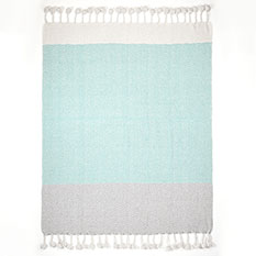 Recycled Cotton PomPom Throw