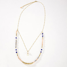 Blue Stone Layered Necklace