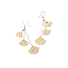 Brass Ginko Earrings
