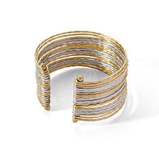 Brass and silver bangle