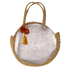 Metallic Jute Bag with tassel