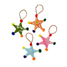 Sari Star Decorations Set of 6