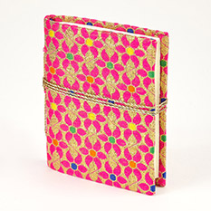 Mini Metallic Fabric Covered Notebook