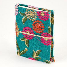Mini Embroidered Fabric Covered Notebook