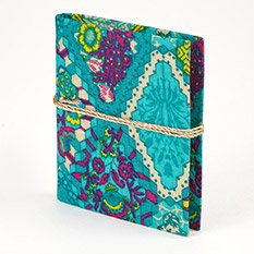 Mini Cotton Fabric Covered Notebook