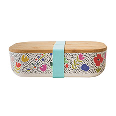 Bamboo Lunch Box Floral Green