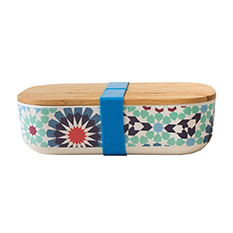 Bamboo Lunch Box Blue Tiles