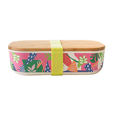 Bamboo Lunch Box Abstract Green