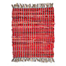 Recycled Colour Block Rug Red