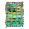 Recycled Colour Block Rug Green