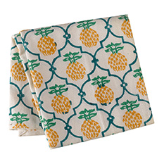 Hand Printed Pineapple Tea Towel