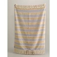 Blue Recycled Cotton Tuffed Throw